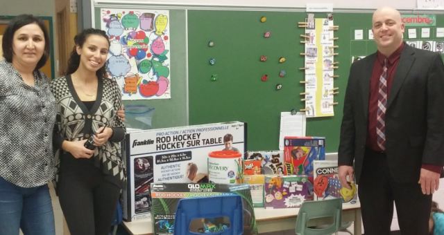Donations to Saint-Fabien School